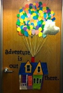 This is the awesomest dorm room door ever!