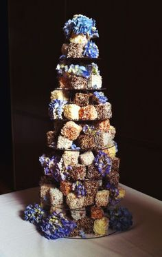M A K E . B A K E . C A K E: WEDDING CAKE: The Lamington Tower