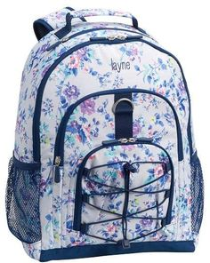 4567ca0dc5f0 Gear-Up Gray Ditsy Floral Backpack. Pottery Barn Teen BackpacksFloral ...