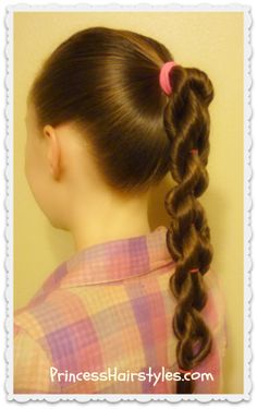 Cute twisted pull through braid tutorial.  Great hairstyle for school.