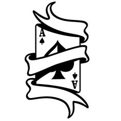 Ace of spades with scroll car decal sticker poker cards game gambler man cave Easy Drawings, Tattoo Drawings, Tattoos, Ace Card, Image Deco, Graffiti Drawing, Card Tattoo, Card Games, Vector Free