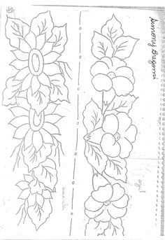 Border Embroidery Designs, Embroidery Flowers Pattern, Diy Embroidery, Embroidery Stitches, Bed Sheet Painting Design, Fabric Painting, Rose Stencil, Fabric Paint Designs, Wreath Drawing