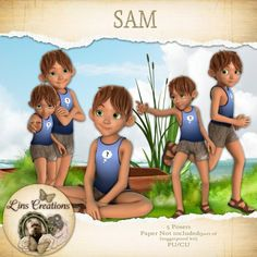 Digital Designer Resources Sam [Lins Creations] - Mischievious Sam for your kits CU/PU Sam Lin, Disney Characters, Fictional Characters, Card Making, Disney Princess, Digital, Commercial, Kids, Store