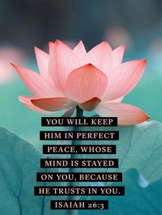 Isaiah NLT 3 You will keep in perfect peace all who trust in you, all whose thoughts are fixed on you! Scripture Verses, Bible Verses Quotes, Bible Scriptures, Gospel Quotes, Inner Peace Quotes, Spiritual Quotes, Isaiah 26 3, True Vine, Perfect Peace