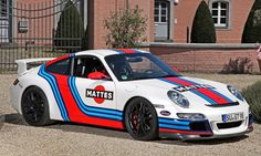 Martini-style Racing Livery by CAM SHAFT for the Porsche 911 GT3 1 ...