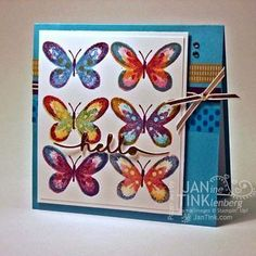Stampin Up Watercolor Wings - I'm sorry, now you have to have this set