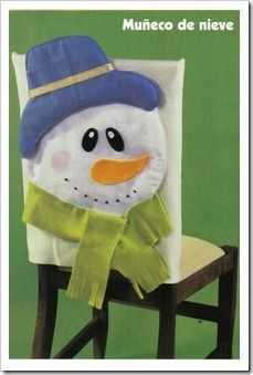 Chair Covers Santa Claus and snowman