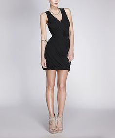 Take a look at this Rieley Black Shirred Surplice Dress - Women on zulily today! Big Girl Clothes, Sexy Little Black Dresses, Surplice Dress, Short Cocktail Dress, I Dress, Spring Summer Fashion, Girl Outfits, Style Inspiration, Stylish