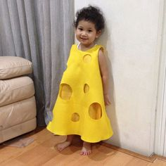 Cheese Dress #cheese #cheesecostume #kid #kids #kidsdress #kidscostume #dress #dresses #costume #icouturiere