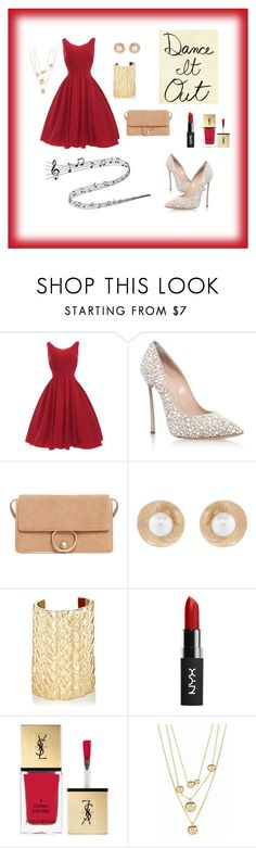 """""""Untitled #2"""" by di-kah ❤ liked on Polyvore featuring Casadei, MANGO, Oscar de la Renta, Jennifer Fisher, Yves Saint Laurent and Talbots"""