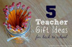 5 Teacher Gift Ideas for Back-To-School