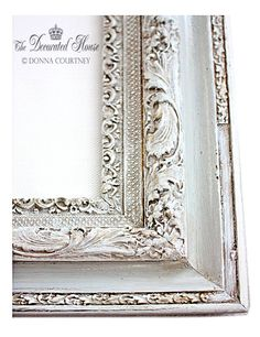 ~ How To Antique Glaze - A Perfectly Imperfect Frame with Annie Sloan Paris Grey Chalk Paint from The Decorated House.
