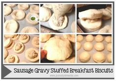 The Homestead Survival | Biscuits Stuffed With Sausage Gravy At Home Or While Camping | http://thehomesteadsurvival.com