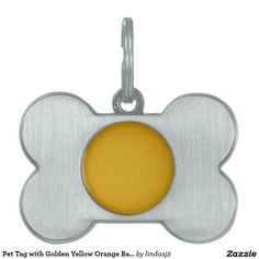 Pet Tag with Golden Yellow Orange Background