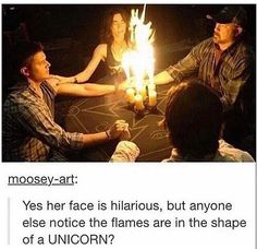Well, it *is* Cas they're attempting to summon. Unicorn totally fits.