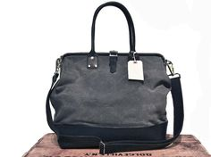 Walter charcoal gray canvas and black leather by sidneyandsons, $190.00