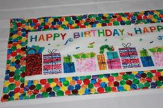 Very Hungry Caterpillar Happy Birthday Table Runner, Decoration on Etsy, $27.00