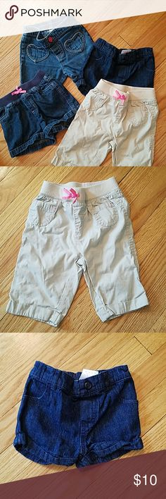 Bundle Pack!! 3 shorts 1 Capri. 2 shorts are 2T and 2 shorts are 24 months Bottoms