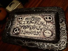 Ouija board style handmade Jack Skellington serving tray- This person makes beautiful Nightmare Before Christmas stuff to sell on Ebay