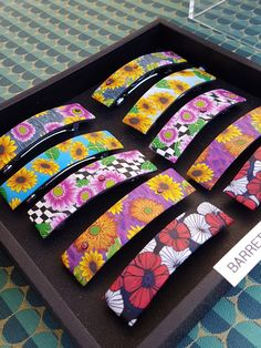 My barrettes Polymer Clay Projects, Polymer Clay Art, Hair Ornaments, Canes, Hair Accessories, Quilts, How To Make, Ideas, Fimo