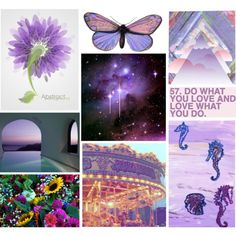 Purple Collage, created by athousandbutterflies-starryowl.polyvore.com