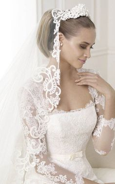 Graceful A-line Floor-length Lace Wedding Dress, Wedding Dresses Online