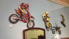 Decorative #WALLART for your children's #Bedroom  at #AshleyFurniture in Richland, WA  #Boys #art #motorcycle #snowboard #TriCities