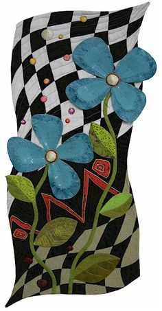 """""""Alice's Garden"""" - Handmade Quilt by Lisa Jenni Also I feel like this would be an awesome dress!"""