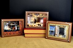 """In the City"" Mixed Media Wall Tile Set (3 Tiles)"