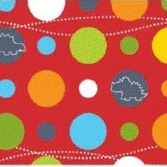 Little Yellow Bicycle - Babysaurus - Big Dino Dots in Red $8.75/yd   Manufacturer: Blend (106.101.05.03)  Designer: Little Yellow Bicycle  Collection: Babysaurus  Print Name: Big Dino Dots in Red  Weight / Material / Width: Quilting, Cotton, 44/45 inches   Horizontal repeat: 7 inches, Vertical repeat: 9 inches     larger dots are 1/2 inch in diameter