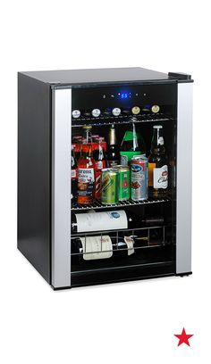 That awful moment when your glass is empty in the middle of your favorite show (or worse, the big game)... End the madness. Get a mini fridge. — Wine Enthusiast Evolution Series wine cooler and fridge