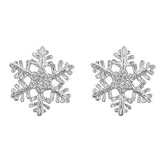 Van Cleef Arpels Diamond White Gold Snowflake Clip On Earrings Vans And