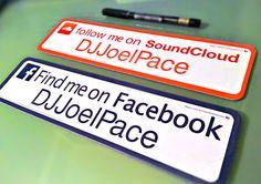 SoundCloud and Facebook--Wide (11 Inch) Bumper Vinyl Decals / Bumper Stickers in AnyCling materials http://followmesticker.com