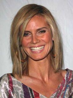 http://cnatrainingclass.co CNA Training Class  Heidi Klums straight medium length hairstyle hair-and-beauty