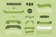 Vector Ribbon Pack by Dashwood on Creative Market