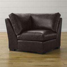 Axis II Leather Corner Chair - Crate and Barrel