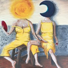 My Sun and Moon. A surreal take on a classic painting. Two ladies try too keep cool on a hot afternoon.