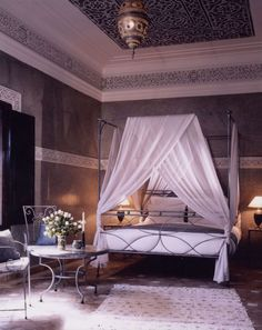 moroccan interior design-softer colors same great shapes
