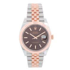 Rolex Datejust II Men's 2-Tone Steel & Rose Gold 41mm Watch 126331 Rolex Datejust Ii, Rolex Watches For Men, Casio Watch, Stainless Steel Case, Gold Watch, Fine Jewelry, Rose Gold, Unisex, Crystals
