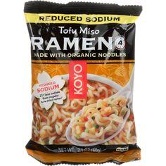 Koyo Ramen - Organic - Tofu Miso - Reduced Sodium - 2.1 oz - case of 12