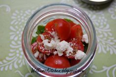 Arugula & Cherry Tomato Salad with Balsamic Drizzle - Quick, delicious salad that's perfect for camping or picnic. Picnic in a Jar. Great for lunch or a vegetable side salad for dinner.