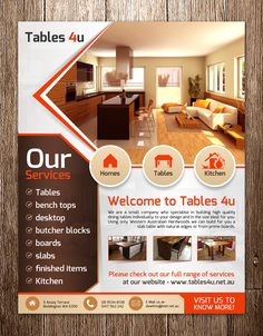Interior Designer Flyer & Ad Template Design Biz
