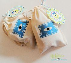 Plan-it partido de Michelle: Universidade DIY Monstros Inspirados Party Favor Bags