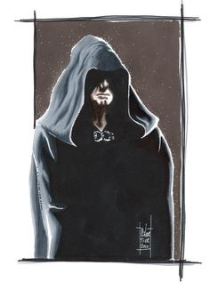 """""""Darth Sidious"""" - Star Wars Illustrations - by Francois Chartier"""