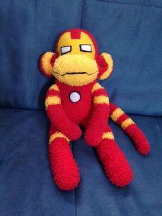 Iron Monkey Super Hero, Sock Monkey...Handmade Iron Man-like toy for ages 3-93 #Handmade