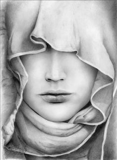 Enigmaby ~jUnityTraditional Art / Paintings / Portraits©2012 ~jUnity    pencil A4  ref cloth
