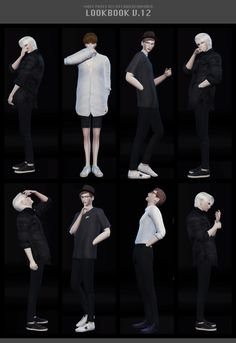LOOKBOOK V.12 POSES SET (MALE PRESENT) at Flower Chamber via Sims 4 Updates