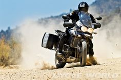 Triumph Tiger Explorer  http://www.cycleworld.com/2012/08/23/adventure-touring-bike-comparison-review/4/