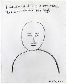 Jonathan Borofsky | I dreamed I had a mustache that was trimmed too high at 2,206,687 (1973) | Artsy