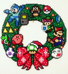 8-bit Nintendo Wreath
